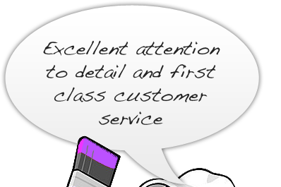 Excellent attention to detail and first class customer service